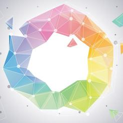 POLYGONAL MULTI-COLOR BACKGROUND.eps