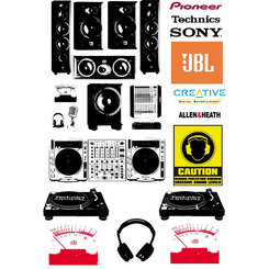 SPEAKERS AND TURNTABLE VECTORS.eps