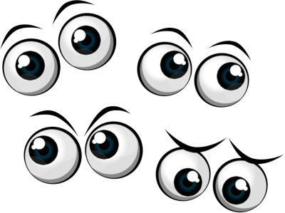 cartoon eyes PSD