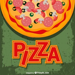 Pizza vector free template