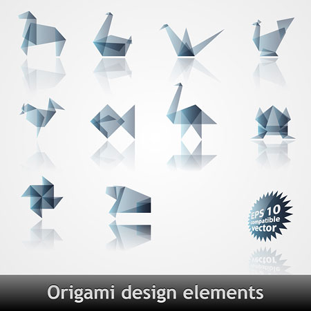 Origami pattern vector material effect