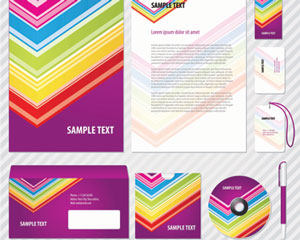 Stock Ilustrations Colorful Corporate Identity