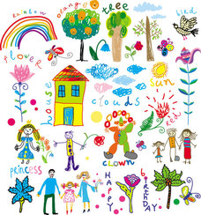 Cartoon illustrator of children 01