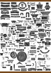 Than 100 Vector material shall primitive patterns