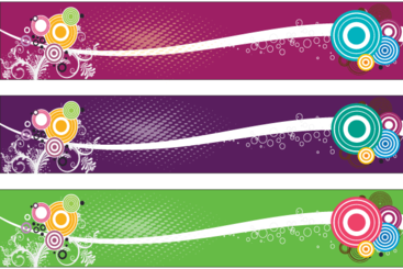 Three Colorful Banner Free