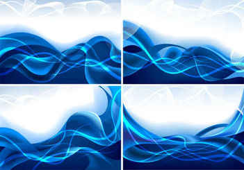 Blue dynamic lines background
