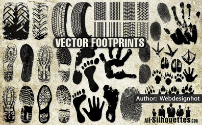 33 Vector Footprints clipart