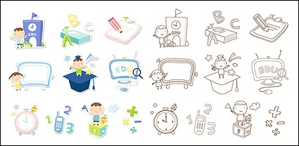 Cute icon series vector material-1
