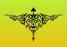 Tribal Bird Tattoo Graphics