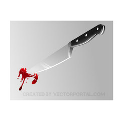 BLOODY KNIFE VECTOR IMAGE.ai