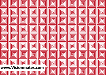Red Labyrinth Background