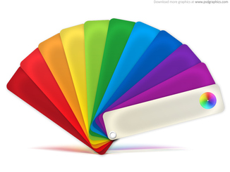 Color palette icon (PSD)
