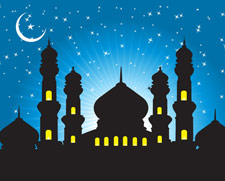 Abstract background mosques