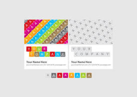 Bright Keyboard Business Cards
