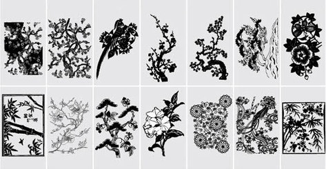 Free Vector Flowers Silhouettes