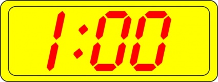 Digital Clock 1:00