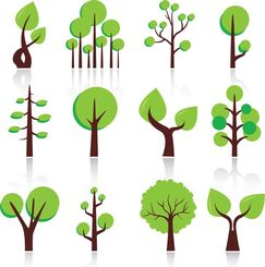 Free Vector Abstract Trees