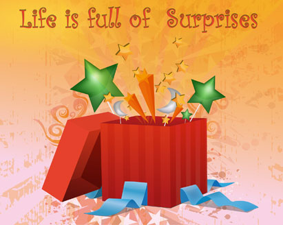Abstract Surprise Gift Box
