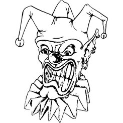 CLOWN FACE VECTOR IMAGE.eps