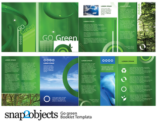 Free Go Green Vector Booklet Template