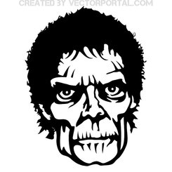 ZOMBIE FACE FREE VECTOR.eps