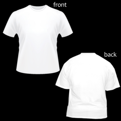 Shirt template with black background PSD
