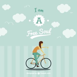 Free spirit on bike