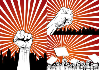 Fist protest against the series of