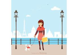 Free Vector Shopping Girl In Paris