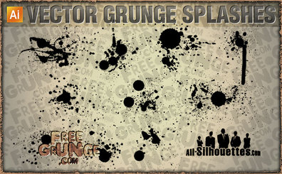 35 Grunge Splashes
