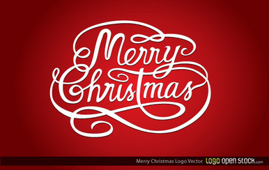 Merry Christmas Lettering Design Background Vector Free