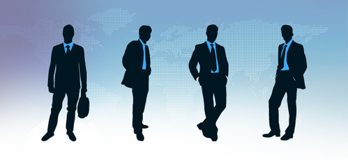 Businessman Silhouettes Set
