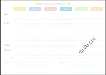 Free Vector To-Do List Template in French