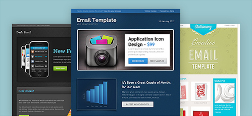 Email Template PSD Set 4