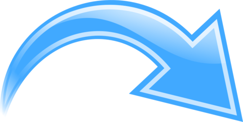 Curved Arrow, Blue