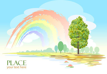 Free vector about cartoon scenery background