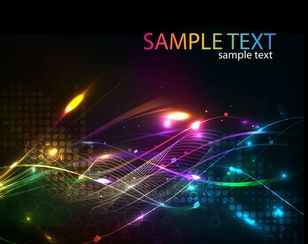 Futuristic Abstract Glowing Light Curves Background