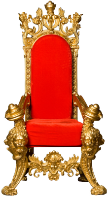 Throne (gold & red) PSD