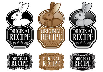 Black and white royal style ingredients label 04 - vector ma