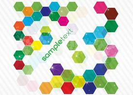 Colorful Hexagon Background