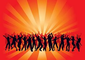 Dancing Crowds Background