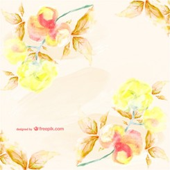 Watercolor floral card stylish design