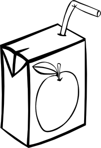 Apple Juice Box (B and W)
