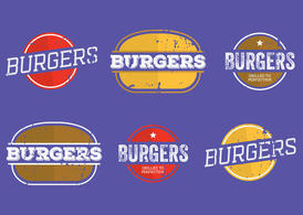 Vintage Burger Labels