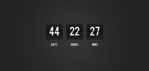 Flip-Clock Countdown (PSD)
