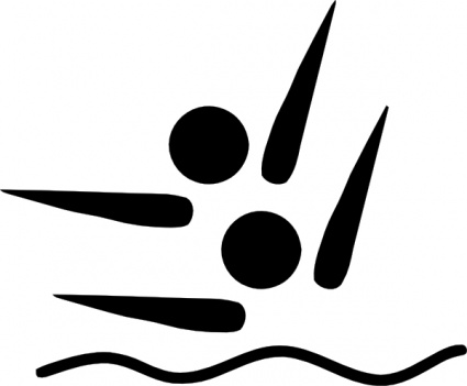 Olympic Sports Synchronized Swimming Pictogram