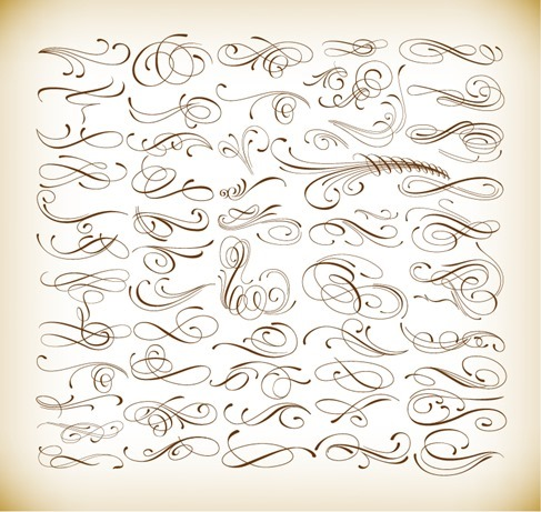 Calligraphic Elements Vector Set for Your Design