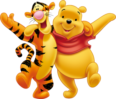 Winnie The Pooh And Tiger PSD