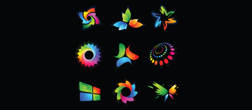 9 Vibrant Logotype Vector Designs Set