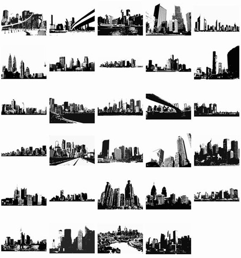 Free Vector Skylines Vector Pack